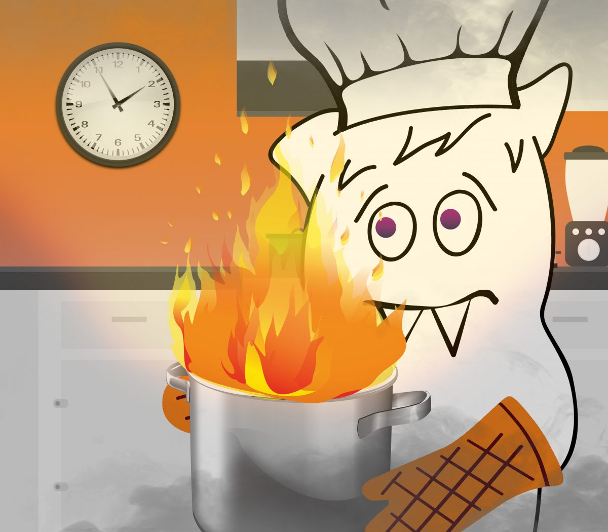 5 reasons tight deadlines are a recipe for disaster. Toothy dealing with a fire in the kitchen.